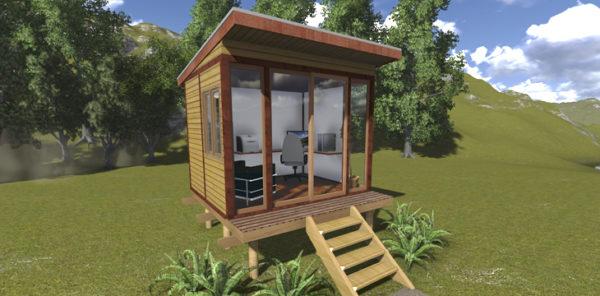 Revo Timber Office - Exterior render